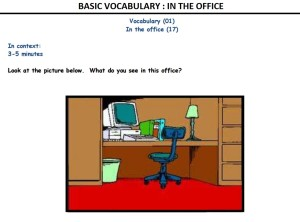 Basic Vocabulary In The Office Wooskills