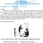 Business English - Presentation Procedure - Presenting the first point & Moving to the next point