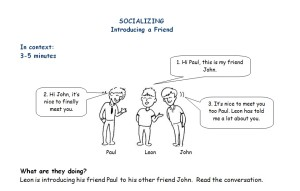 introducing a friend in english